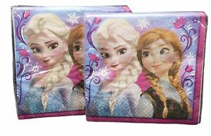 "Disney Frozen 2-Ply Beverage Napkins 10"" x 10"" Purple (Lot of 2 pack) 16 ct. NEW"