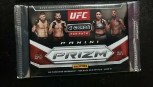 Panini 2021 Prizm UFC Debut Edition Trading Card RETAIL Pack [4 Cards] Sealed