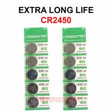 10 PACK Super Fresh Long CR2450 ECR 2450 3v LITHIUM Coin Cell Battery Exp. 2029