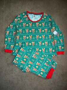 New Disney Store Gingerbread 2 Piece Pajama Set Women Adult Christmas Holiday M