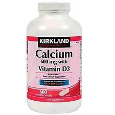Kirkland Signature Calcium 600mg with Vitamin D3 600 for strong bones & teeth