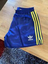Mens Adidas Navy/Yellow Shiny Glanz Retro Shorts. Size S. Scally/Gay Int