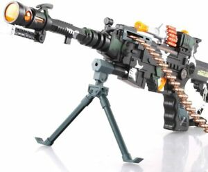 """Machine Guns Combat Military Soldier Action Toy Rifle With Sound Light 22"""" Kids"""