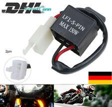 LED Blinker Relais Motorrad | 2 Pin 12V Lastunabhängig Honda Kawasaki KTM BMW DE