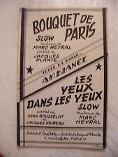 Partition Bouquet de Paris Heyral Les yeux dans Les yeux