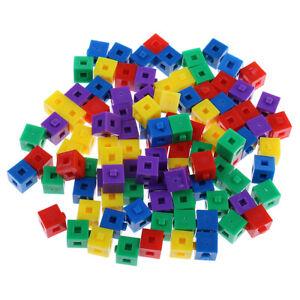 100pcs Stacking Cubes Building Bricks Blocks Game Kids Development Party Toy
