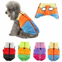 Pets Dog Vest Jacket Warm Waterproof Clothes Winter Padded Puppy Zipper Coat USA