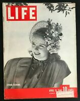 LIFE MAGAZINE Apr 15 1946 - SPRING FASHIONS / Atomic Energy  Alice in Wonderland