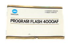 Minolta Program Flash 4000AF Bedienungsanleitung/Owner's Manual auf Englisch