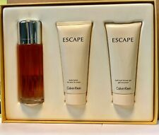 Escape by Calvin Klein 3 Pcs Gift Set For Her EDP 3.4 oz Body Lotion Shower Gel