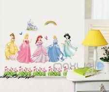 5 Disney Princess Castle Rainbow Wall Decal Removable Sticker Kids Nursery Decor