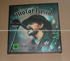 MOTORHEAD CLEAN YOUR CLOCK POP UP 2LP PIN'S CD DVD BLU RAY AND MORE - NEUF