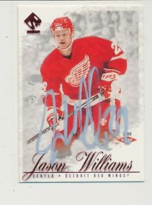 RARE SIGNED 2001-02 PACIFIC PRIVATE STOCK ROOKIE RUBY JASON WILLIAMS RED WINGS