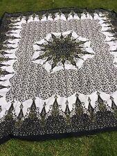 Indian Mandala Tapestry Cotton Flat Sheet Hippie Gypsy Bohemian Spread Beach Yog