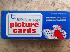 1987 Topps Baseball Vending Box 500 count Picture Cards