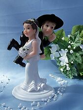 Western Wedding Humorous Funny CAKE TOPPER -     Bride Carry Groom Over Shoulder