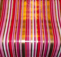VTG CHRISTMAS OR VALENTINE'S STORE WRAPPING PAPER STRIPE GIFT WRAP - 2 YARDS