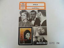 CARTE FICHE CINEMA 1963 OPHELIA Alida Valli Claude Cerval André Jocelyn