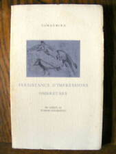 Corbeau Cordebard Persistance d'Impressions Ombreuses Editions du Lérot 1988