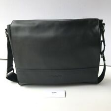 Coach * Men's Bag F68017 QB/BK Houston Messenger Black Leather