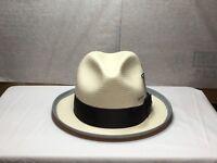 New with Tag Men's Carlos Santana SAN 101 Straw Hat Natural size SMALL