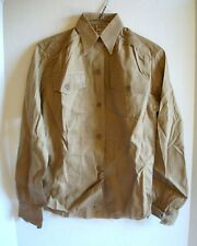WWII 1940s WAC ARMY NURSE Khaki Cotton Field Service Shirt LORCH DALLAS Sz 30