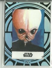 Star Wars ANH Black /& White Blue Base Card #43 The Mos Eisley Cantina