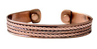 Bangle Cuff Magnetic Copper Bracelet Healing Bio Therapy Arthritis Pain Relief