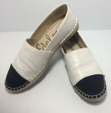Sam Edelman Women's Krissy Moccasin,White &  Black, Size  9