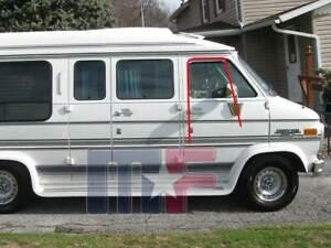 2x Seitenscheibenführung Chevrolet GMC Van 75-95 G10 G20 G30 Scheibendichtungen