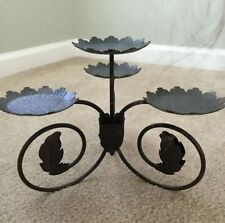 Partylite Metal Scroll Leaf Medium Candelabra Retired