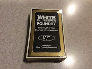 WHITE FARM EQUIPMENT FOUNDRY Collectible Playing Cards Black & White