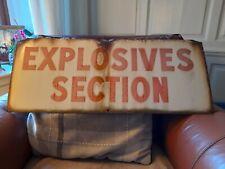 Large Vintage Enamelled Sign