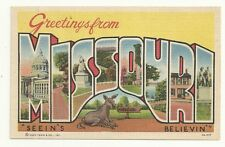 Greetings From Missouri Mule Donkey Post Card