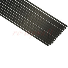10pcs 1mm*4mm*500mm Flat Carbon Fiber Rods for Sand-Table RC Airplane #