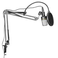 Microphone Boom Stand Recording Studio Broadcast Mic Suspension Scissor Arm Desk