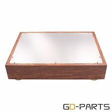New Wood Aluminum Amplifier Chassis Enclosure For Vintage Hifi Audio DIY 380mmx1