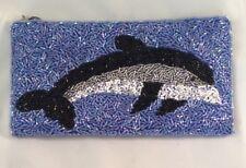 Kirks Folly Beaded Dolphin Nautical Bag Clutch NWOT