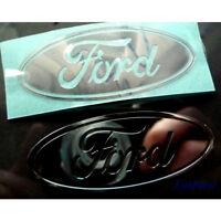 4 x Ford Metallic CAR Sticker Chrome 7 vinyl 30mm x 13mm 10 8 Windows Silver xp