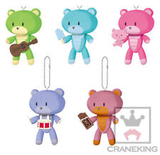 Gundam Build Fighters Beargguy Puchigguy Set of 5 Plush 10cm BANP37144 US Seller