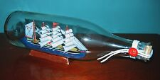 """Ship in a Bottle--FOUR MASTED 11"""" long New in Box! Great details!"""
