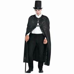 Gothic Romance Cloak Cape Adult Standard Full Length Black Steampunk