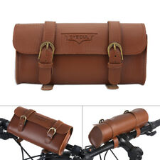 Vintage Bicycle Bike Cycling Tail Bag Leather Bag Bike Saddle Bag Tail Pouch