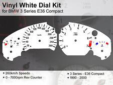 BMW 3 Series E36 Compact (1990 - 2000) - 260kmh / 7000rpm - Vinyl White Dial Kit