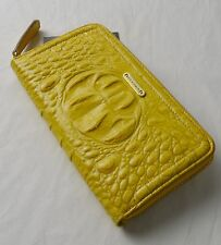 Brahmin Yellow Glossy Melbourne Suri Zip Around Wallet