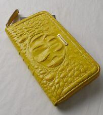 Brahmin Yellow Glossy Melbourne Suri Zip Around Wallet