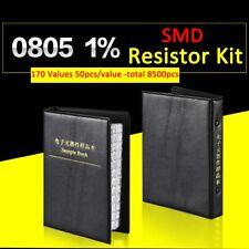 8500pcs 0805 Smdampsmt 1 Resistor Samples Book Assorted Kit Component 170 Values