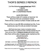 Baseball Card Repack Mystery Pack Topps / Bowman Acuna PSA 10 LOOK Thors Series