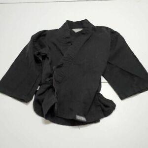 Century Mens Martial Arts Uniform Black Side Slit 3/4 Sleeve Side Tie 000