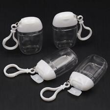 5Pcs Empty Hand Soap Liquid Portable Empty Bottles Hook Keychain Carrier 30ml